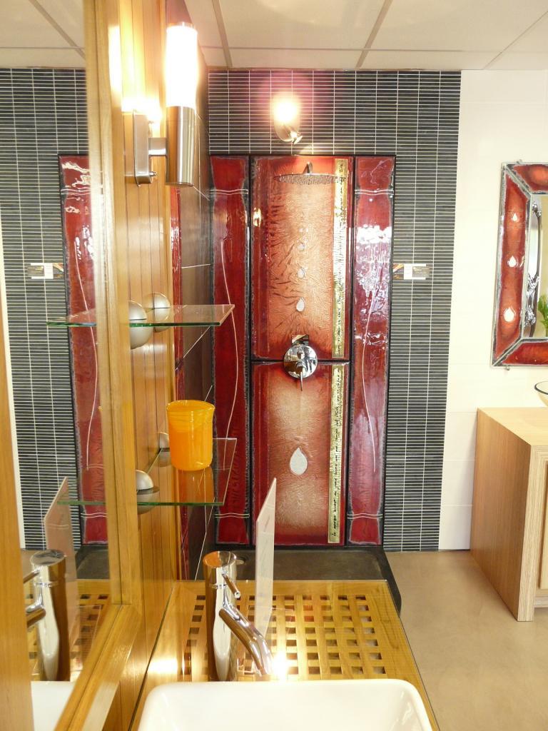 Carrelage et verre kopper glass for Fond de douche italienne